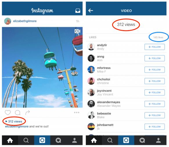Instagramで動画のいいね数と視聴数が表示可能に