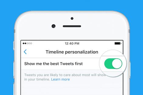 Twitterの表示方式、新タイムラインでは重要なツイートが上に