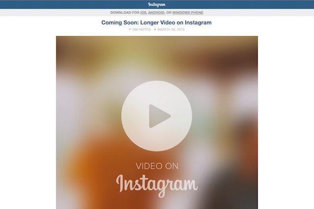 Instagramの再生時間が60秒まで拡大!編集機能も追加