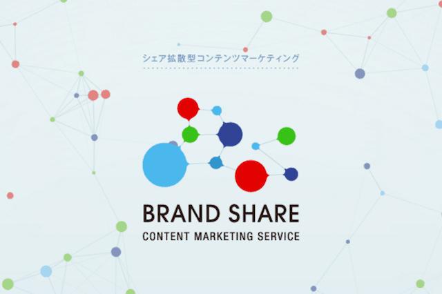 コンテンツマーケティング効果を最大化するサービス BRAND SHARE