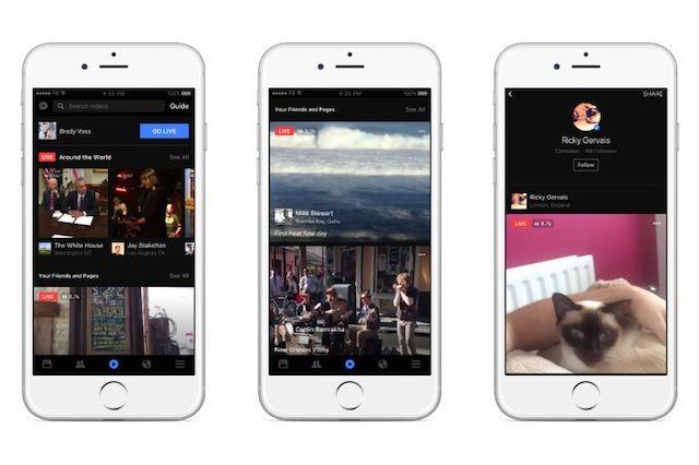 Facebook ライブ動画機能