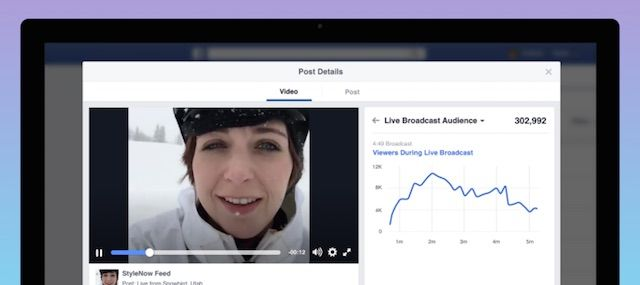 Facebook ライブ動画分析機能
