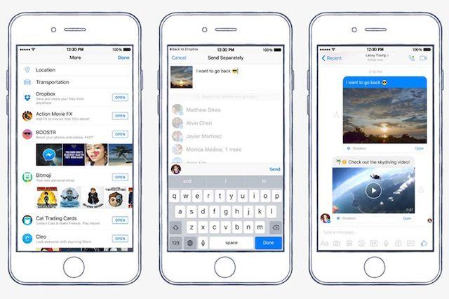 FacebookメッセンジャーがDropboxとの連携機能を追加