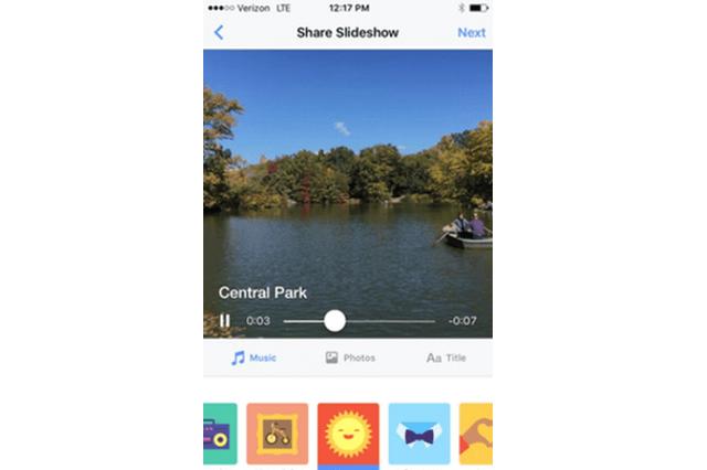 Facebookがスライドショーの作成機能を提供開始