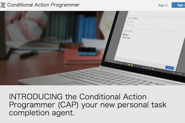 Microsoft 「CAP」(Conditional Action Programmer)