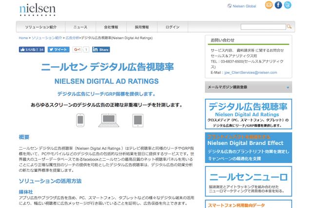 ニールセン、デジタル広告視聴率の機能拡張を発表