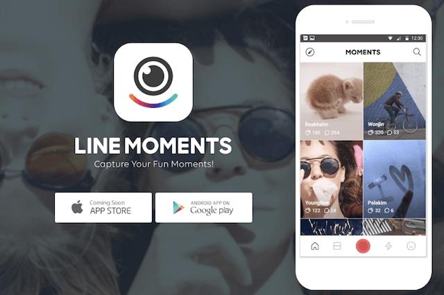 ソーシャル動画アプリ「LINE MOMENTS(ライン モーメンツ)」が公開