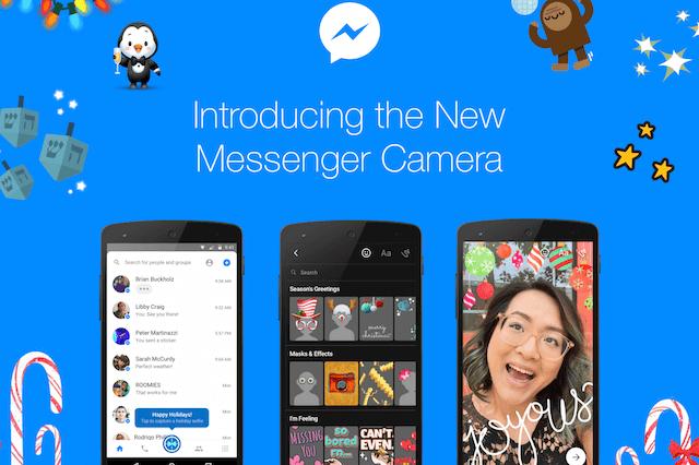 Facebook、メッセンジャーのカメラ機能に即時撮影などの新機能を追加