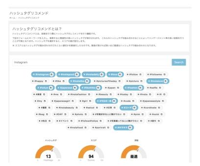 SPRAY Insight(スプレイ インサイト)のハッシュタグリコメンド機能
